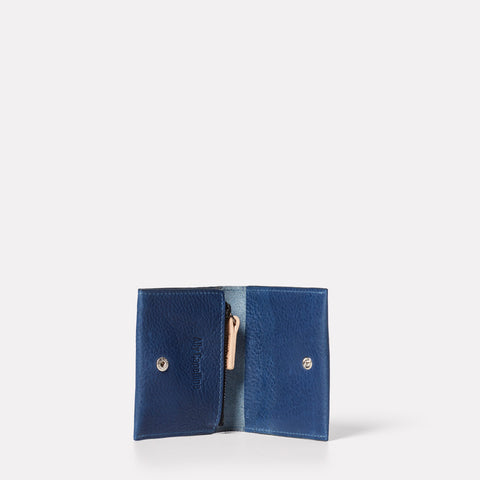 SS19, small leather goods, womens, mens, leather, purse, wallet, leather purse, navy, navy leather, navy leather purse, leather wallet, card holder, leather card holder, navy card holder, navy leather card holder, card wallet, blue, blue leather, coin purse,