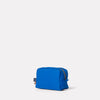 SS19, womens, mens, washbag, waxed cotton, cobalt, blue, blue washbag, cobalt washbag, waxed cotton washbag,