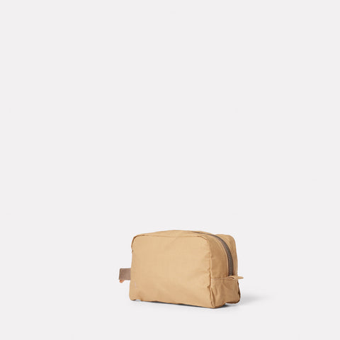 SS19, womens, mens, washbag, waxed cotton, sand, beige, sand washbag, beige washbag, waxed cotton washbag,