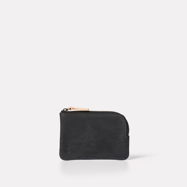 Womens, Mens, Unisex, SS19, pouch, purse, black leather, leather, black leather purse, black leather pouch, small leather pouch, coin purse, black coin purse, black leather coin purse, small leather goods,
