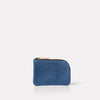 Womens, Mens, Unisex, SS19, pouch, purse, navy leather, leather, navy leather purse, navy leather pouch, small leather pouch, coin purse, navy coin purse, navy leather coin purse, small leather goods, blue, blue leather, blue purse,