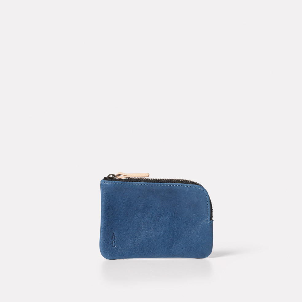 Tina Calvert Leather Pouch in Navy