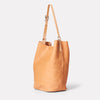 Lloyd Calvert Leather Bucket Bag in Light Tan