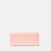 Evie Long Leather Purse in Pink Front