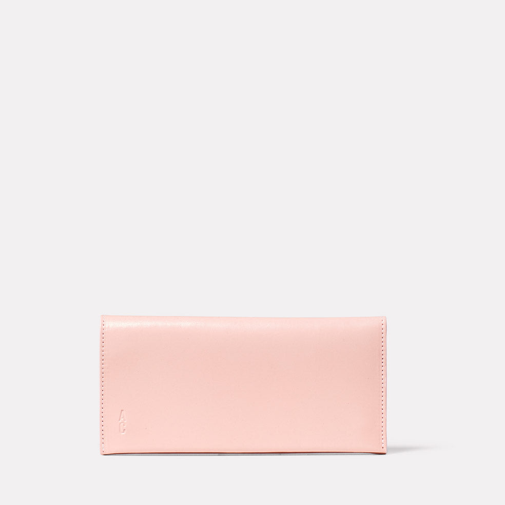 Evie Long Leather Purse in Pink