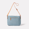 Jeremy Small Waxed Cotton Satchel in Blue