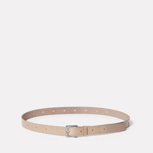 Arty Leather Belt in Grey
