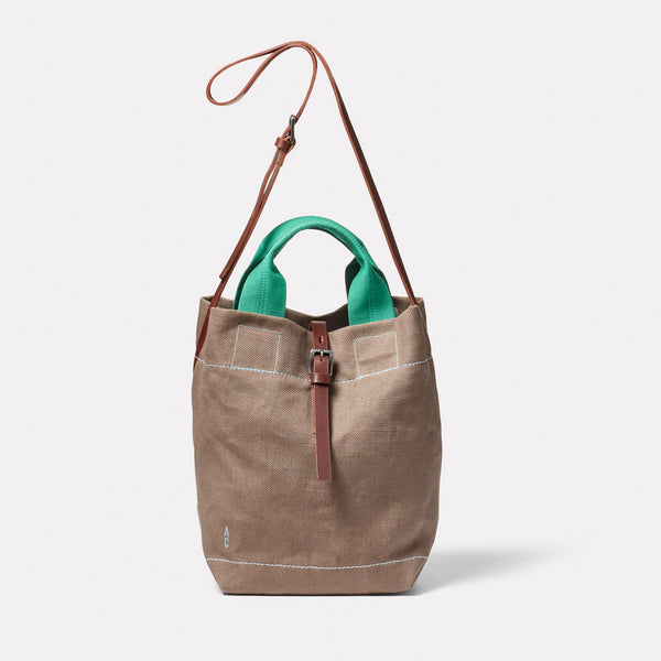 Bob Hemp Bucket Bag in Khaki Front