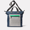 Campo Non Leather Travel Cycle Tote in Navy/GreyFront with strap detail