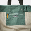 Freddie Waxed Cotton Holdall in Green Inside detail
