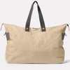 Freddie Waxed Cotton Holdall in Putty Back