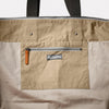 Freddie Waxed Cotton Holdall in Putty Inside detail
