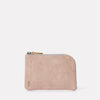 Hocker Medium Leather Purse in Putty Front
