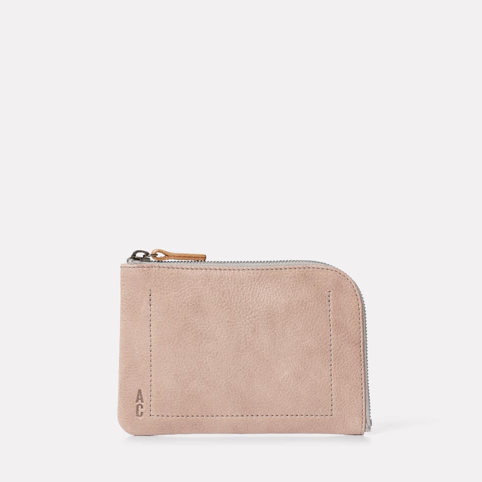 Hocker Medium Leather Purse in Putty