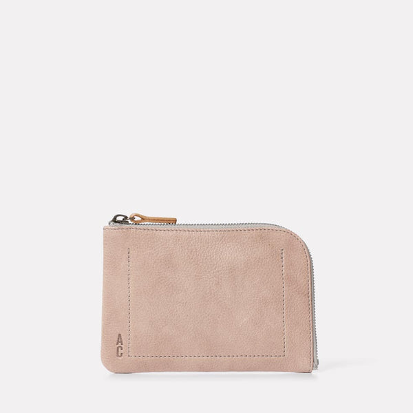 Hocker Medium Leather Purse in Grey Front