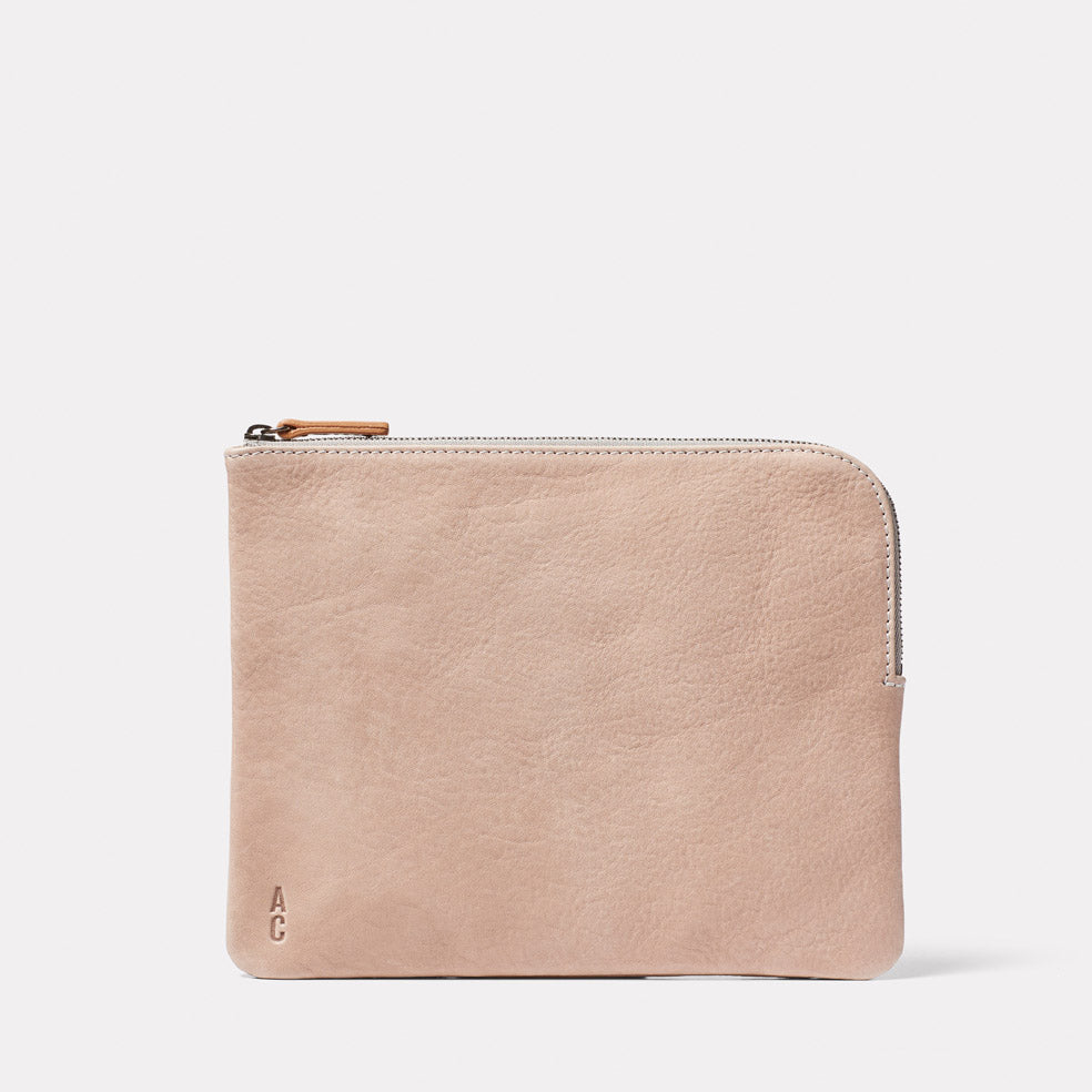 Hocker Large Leather Purse in Putty