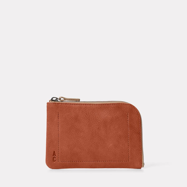Hocker Medium Leather Purse in Tan Front