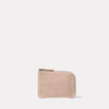 Hocker Small Leather Purse in Grey Front