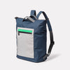 Hoy Non Leather Travel Cycle Backpack in Navy/Grey Angle