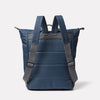 Hoy Non Leather Travel Cycle Backpack in Navy/Grey Back
