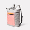 Hoy Travel and Cycle Backpack in Grey/Orange Angle