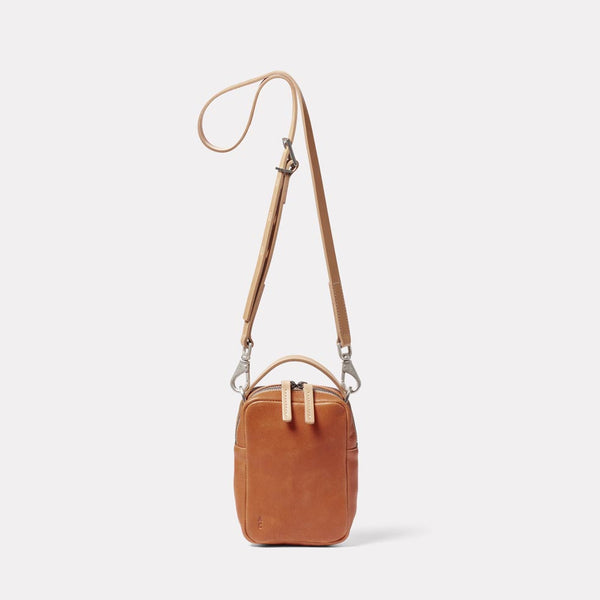 Hurley Calvert Leather Crossbody Bag in Tan Front