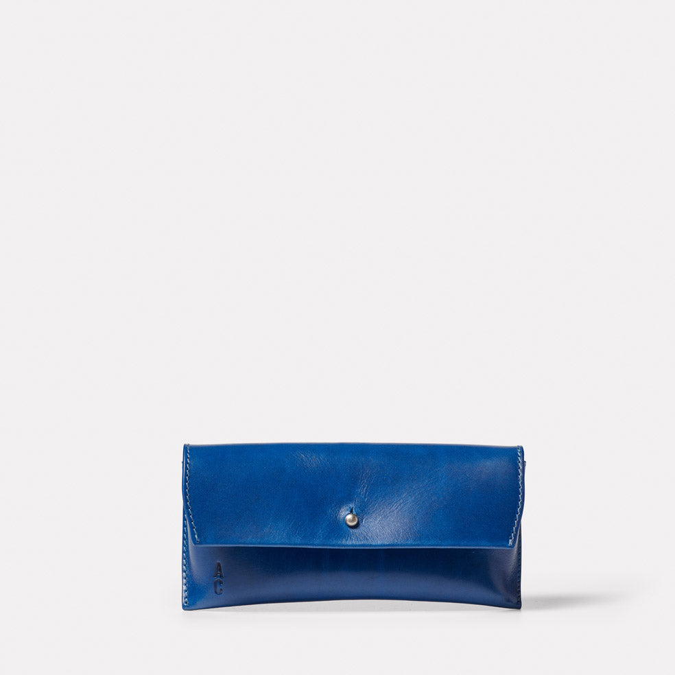Kit Leather Glasses Case in Blue