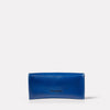 Kit Leather Glasses Case in Blue Back