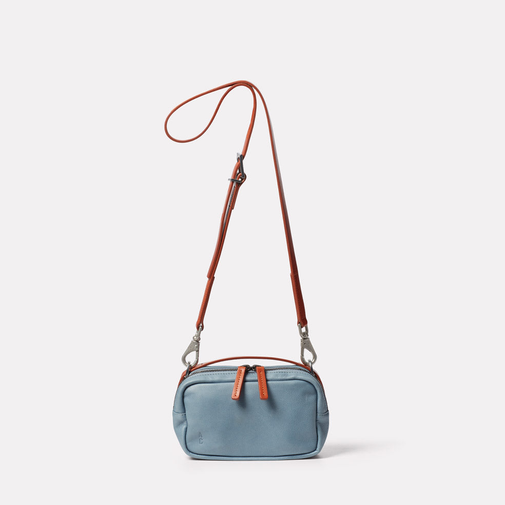 Limited Edition Leila Small Leather Crossbody Bag in Denim