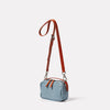 Limited Edition Leila Small Leather Crossbody Bag in Denim Angle