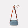 Limited Edition Leila Small Leather Crossbody Bag in Denim Back