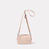 Leila Small Calvert Leather Crossbody Bag in Putty Back