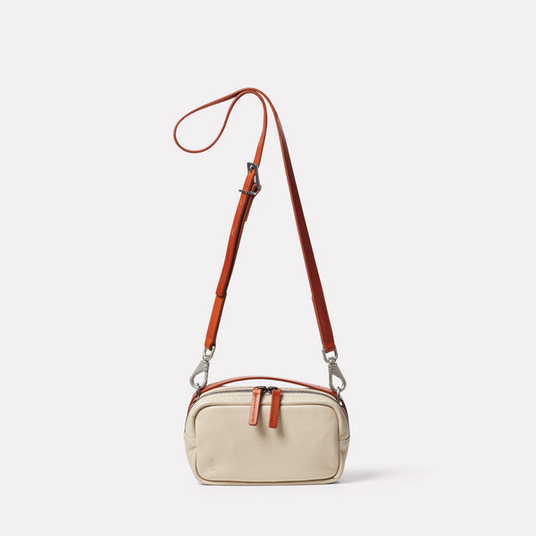 Limited Edition Leila Small Leather Crossbody Bag in Sand Front
