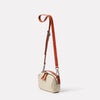 Limited Edition Leila Small Leather Crossbody Bag in Sand Angle