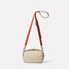 Limited Edition Leila Small Leather Crossbody Bag in Sand Back