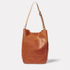 Lloyd Calvert Leather Bucket Bag in Tan Back