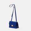 Lockie Boundary Leather Crossbody Lock Bag in Blue angle