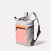 Mini Hoy Non Leather Travel Cycle Backpack in Grey/Orange Angle