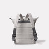 Mini Hoy Non Leather Travel Cycle Backpack in Grey/Orange Back