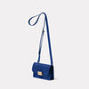 Mini Lock Boundary Leather Crossbody Lock Bag in Blue Angle