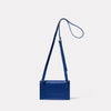 Mini Lock Boundary Leather Crossbody Lock Bag in Blue Back