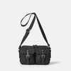 Franco Waxed Cotton Crossbody Bag in Black