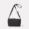 Franco Waxed Cotton Crossbody Bag in Black Rear