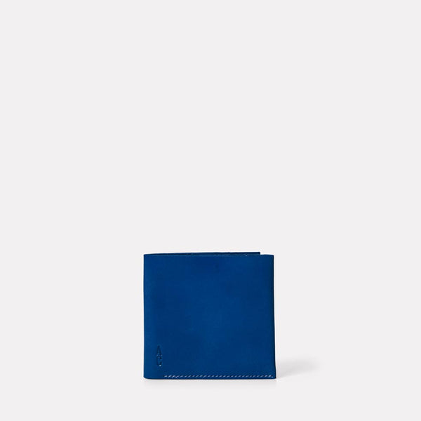 Oliver Leather Wallet in Blue front