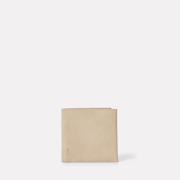 Oliver Leather Wallet in Grey Front