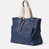 Tim Hemp Tote in Dark Navy Angle