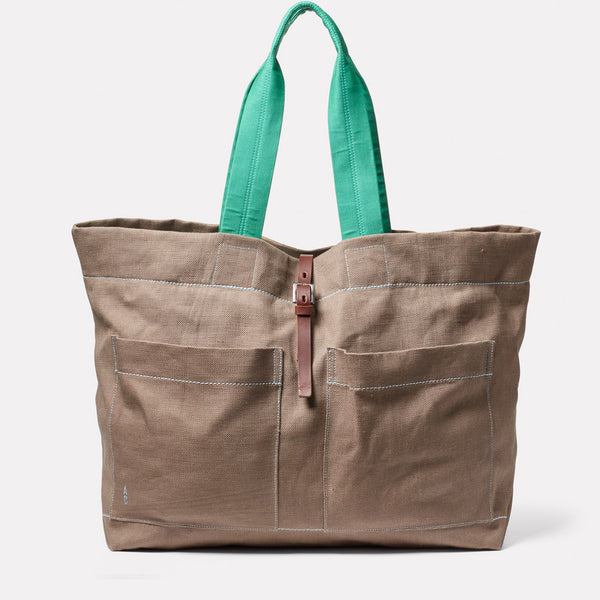 Tim Hemp Tote in Khaki Front