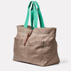 Tim Hemp Tote in Khaki Angle