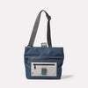 Travis Travel and Cycle Satchel in Navy/Grey unfolded