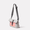 Travis Travel and Cycle Satchel in Grey/Orange Angle
